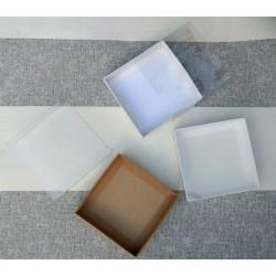 Pudełko KRAFT 15x15x2,5cm z...
