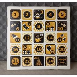 Kalendarz adwentowy - złoty