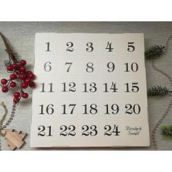 Kalendarz adwentowy - prosty