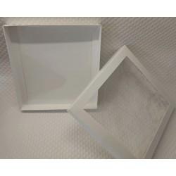 Pudełko 21x21x2,5cm białe