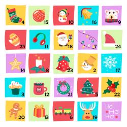 Kalendarz adwentowy - kolorowy